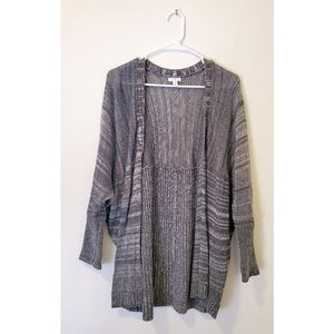 [BP] Slouch Knit Cardigan Size S Gray Open